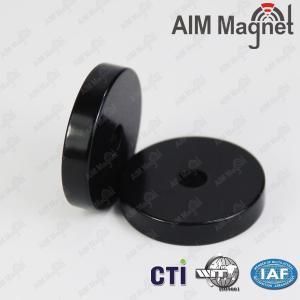 China 25mm x 5mm plastic coated neodymium magnets on sale