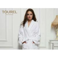 Quality Cotton White Cotton Terry Cloth Bathrobe Waffle Hotel Bathrobes White Blue Pink Color for sale