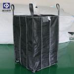 1.5 Ton PP Woven Jumbo Bags , Bulk Plastic Bags Black Color 102x102x107cm Size