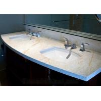 Quality Golden Spider Marble Slab Countertop Vanity Top Goden Vein With Cabinet for sale