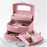 Quality Pink Fashion Luxury Jewelry Box for sale
