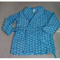 Buy Bule Brushed Fleece Ladies' Robe / Pajama Sets With Front Pockets at wholesale prices