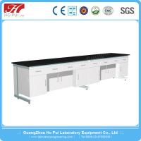 Quality Chemical Laboratory Wall Bench Solid Gray White Epoxy Resin Board for sale