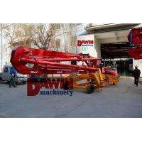 Quality 13m 15m 17m trailer mobile spider concrete placing boom work with concrete pump for construction jobs for sale