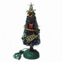 China Christmas Gift/Gleamy Christmas Tree, Powered by 5V Voltage and Sized 254 x 80 x 80mm on sale