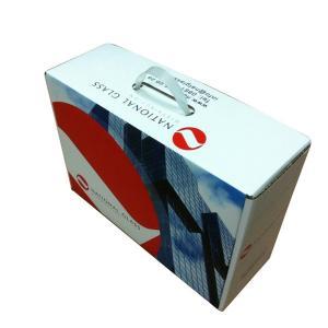 Environmental Material Custom Print Corrugated Packaging Box Plastic Handle