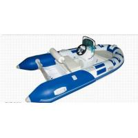 Quality Blue Small Rib Boat 3.5m PVC Chemical Resistance With Sporty Wide Body Frame for sale