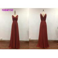 Quality Pretty A Line Wedding Bridesmaid Dresses With Embroidery Decoration Water Soluble for sale