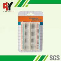 Quality Square Hole Solderable Breadboard Red / Blue Strips For Power Supply Connections for sale