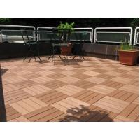 Quality Boardwalk / Playground  WPC Deck Tiles With Anti - Slip Composite Material for sale