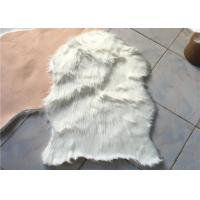 Anti Slip Soft White Australian Sheepskin Rug Durable With 60mm - 70mm Wool