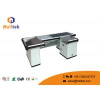 China Aluminum Alloy Grocery Store Checkout Counter Flexible With Conveyor Belt on sale