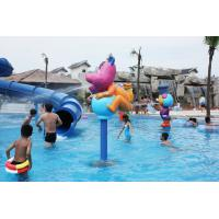 Quality Fiberglass Pump Water Spray Park Equipment Aqua Play Station For 3 - 5 Persons for sale