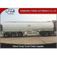 Quality Oil Tanker Trailer With Lifting Front Axle , Tanker Truck Trailer  Q345 Carbon Steel for sale
