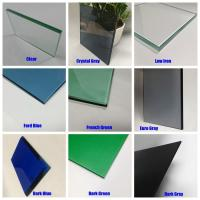 China Tempered Glass Toughened Safety ESG Panel price 4mm 5mm 6mm 8mm 10mm  Bronze Blue Gray Green on sale