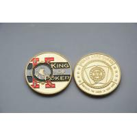 Quality Poker chip card guard gold Commemorative Coins with silk screen , offset printing for sale