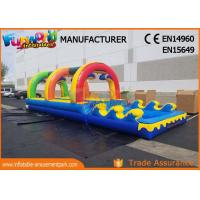 Quality Outside Pvc Tarpaulin Commercial Inflatable Slide With Pool 10 * 3 * 2.5m for sale