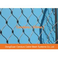 China Flexible Stainless Steel Wire Cable Green Construction Safety Net on sale