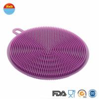 Quality as seen on tv 2018 Durable Eco-friendly Soft Silicone household items Cleaning Brush sponge for sale