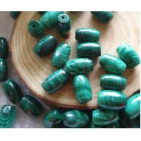 Quality Natural Ston Malachite beads with dril hole size Fit for bracelet necklace by original factory with Multi sizes for sale
