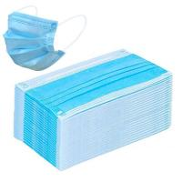 Quality Blue Antibacterial Face Mask Surgical Disposable 3 Ply Dust Mask Lightweight for sale