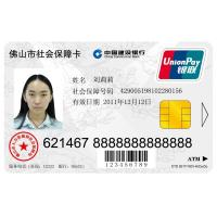 Social Security PVC ID Card with IC and Cardbase Personalization