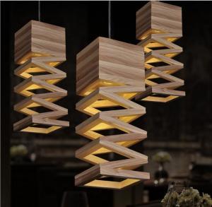 Quality Elegant design wood pendant lamp for living room & restaurant for sale