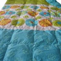 Quality Printed Quilt with Piping and 0.4cm Double Stitching, Made of 100% Cotton for sale