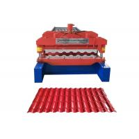 Quality Waterproof Glazed Tile Roll Forming Machine Middle Plate 16mm Weight 3.5-6 Ton for sale