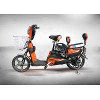 Quality High Power Brushless Electric Moped Scooter 350W Orange Colour With Front Rear Drum for sale