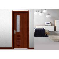 Quality Glass Panel MDF Wood Doors Toilet Maximum Size 2350mm Flat Sliding Swing Open for sale