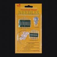 Quality Sewing needle kit with button for sale