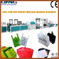 Buy cheap PLC automatic t-shirt bag making machine with auto pneumatic punching device from Wholesalers