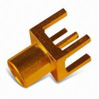 Quality MCX Connectors, Male Right-angle Crimp and Female PCB Mount for sale