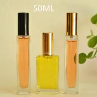 Quality 50ml Transparent Perfume Essential Oil Cosmetic Packaging Glass Bottle for sale