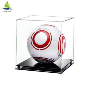 Buy cheap OEM Transparent Football Acrylic Display Box , Ball Helmet Display Case from wholesalers