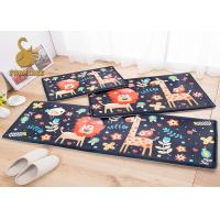 Quality Washable Non-slip Animal Bath Mat , Non-woven Polyester Floor Mats for sale