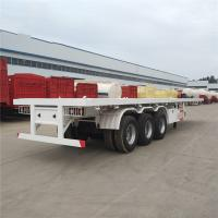 Quality 2 Axle 3 Axle 40 Ft 20 Footer Container Semi Trailer Chassis Flat Bed Flatbed Trailer for sale