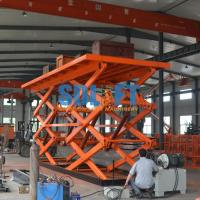 Quality 12T Double Scissor Lift Table , Stationary Hydraulic Lift Platform For Goods for sale