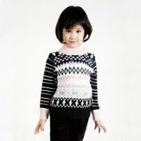China Girls' Pullover Sweater, Kids' Knitting Pattern Sweater, Turtle Neck, Four Colors Available on sale