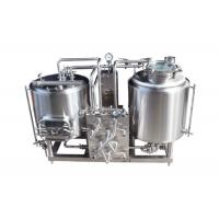 Quality Electric Heating Pilot Brewing Equipment 50L Semi Auto Controlling Eco Friendly for sale