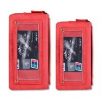 Quality Mobile Phone Bag Retro Pattern Double Zipper Multifunction Leather Wallet Holster For Samsung IPhone for sale