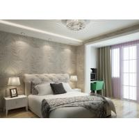 China Embossed PVC Vinyl Wallpaper Leaf Pattern for Hotel Room , Sitting Room on sale