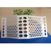 Quality 1 . 0 MM Windproof Dust Suppression Net , Anti Wind Perforated Mesh Powder Coat for sale