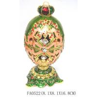 Quality Faberge Easter Metal Egg Jewellery box for sale