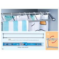 Double Stroke Shower curtain rods and towel bars, shower curtain bars, shower rods,