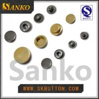 Buy cheap bluk manufacture size 15mm plating colors H65 brass snap button with 4parts in from wholesalers