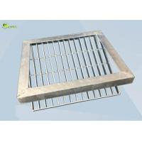 Quality Low Carbon Steel Bar Grating Anti Skid Sawtooth Burglar Drain Trench Cover for sale
