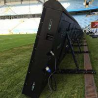 Sports Perimeter Led Display Advertising Boards P8/10/16 5500-8000 Nits With Fast Joint Design