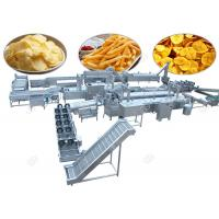 Quality Commercial Potato Chips Manufacturing Machine Frozen French Fries With Flow Production for sale